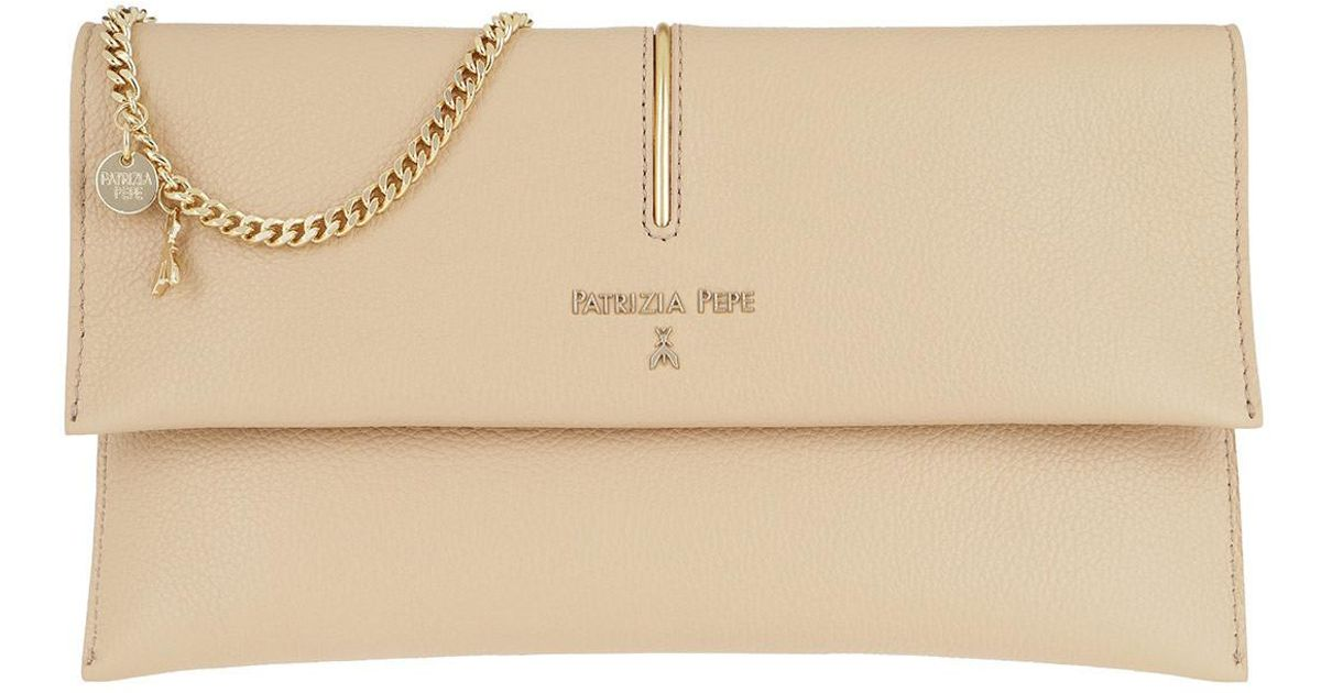 197cd1165771 Patrizia Pepe Chain Crossbody Bag Camel Beige in Natural - Lyst