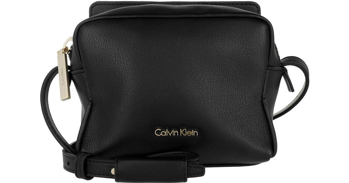 5ec39031f8 Calvin Klein Millie Small Crossbody Bag Black in Black - Lyst