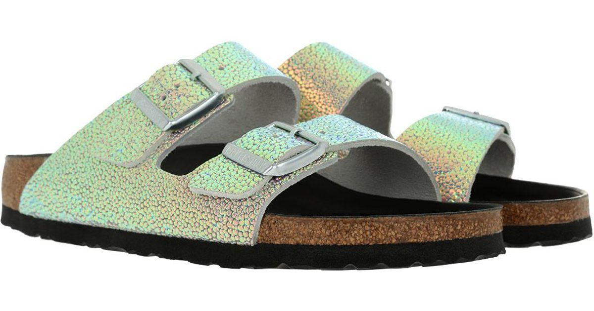 74ca773d3f2 Birkenstock Arizona Bs Narrow Fit Sandal Ombre Pearls Silver Black in  Metallic - Lyst