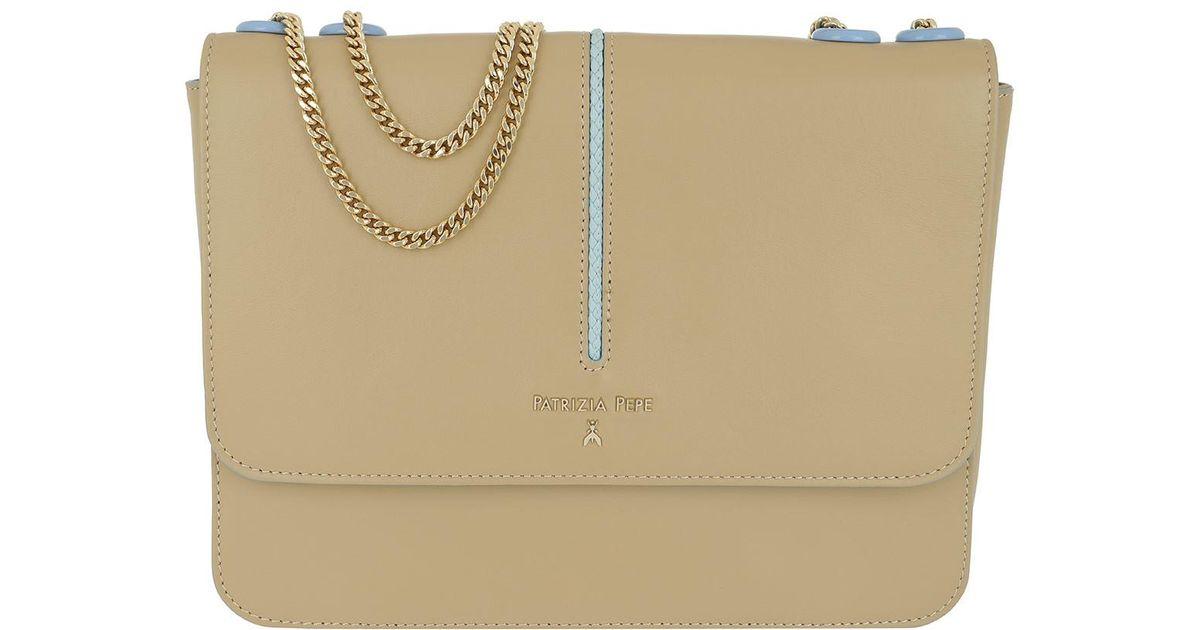 406078b5750 Patrizia Pepe Shoulder Bag Flap Over Spring Beige\puresky in Natural - Lyst