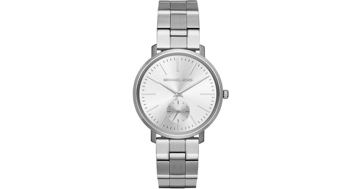 d39d5e1daab4 Michael Kors Ladies Jaryn Watch Silver in Metallic - Lyst