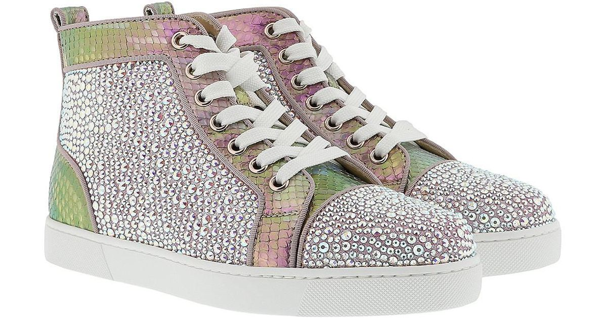 3b9f470e010 Christian Louboutin Pink Louis Woman Strass Sneaker Rose/gold