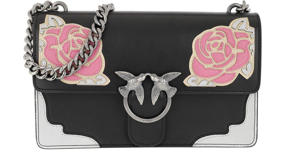 new arrivals 19909 2a28f Pinko Multicolor Love Rose 1 Tracolla Crossbody Bag Nero/rosa