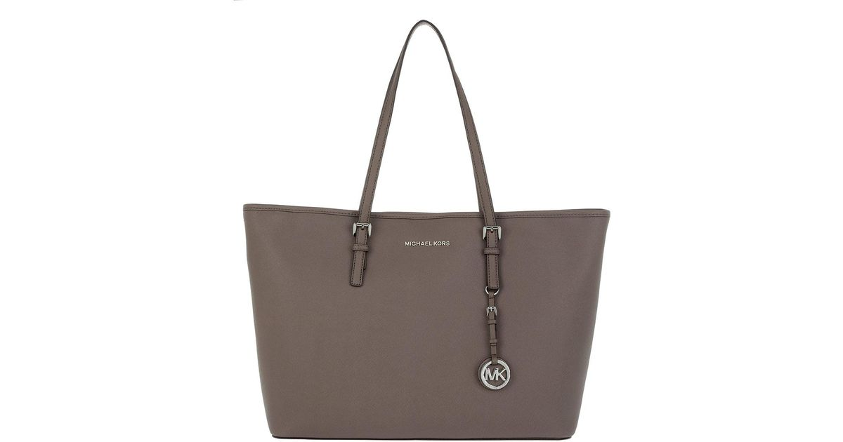 2c64a7432aaf7 MICHAEL Michael Kors Jet Set Travel Md Tz Multifunction Tote Cinder in  Brown - Lyst