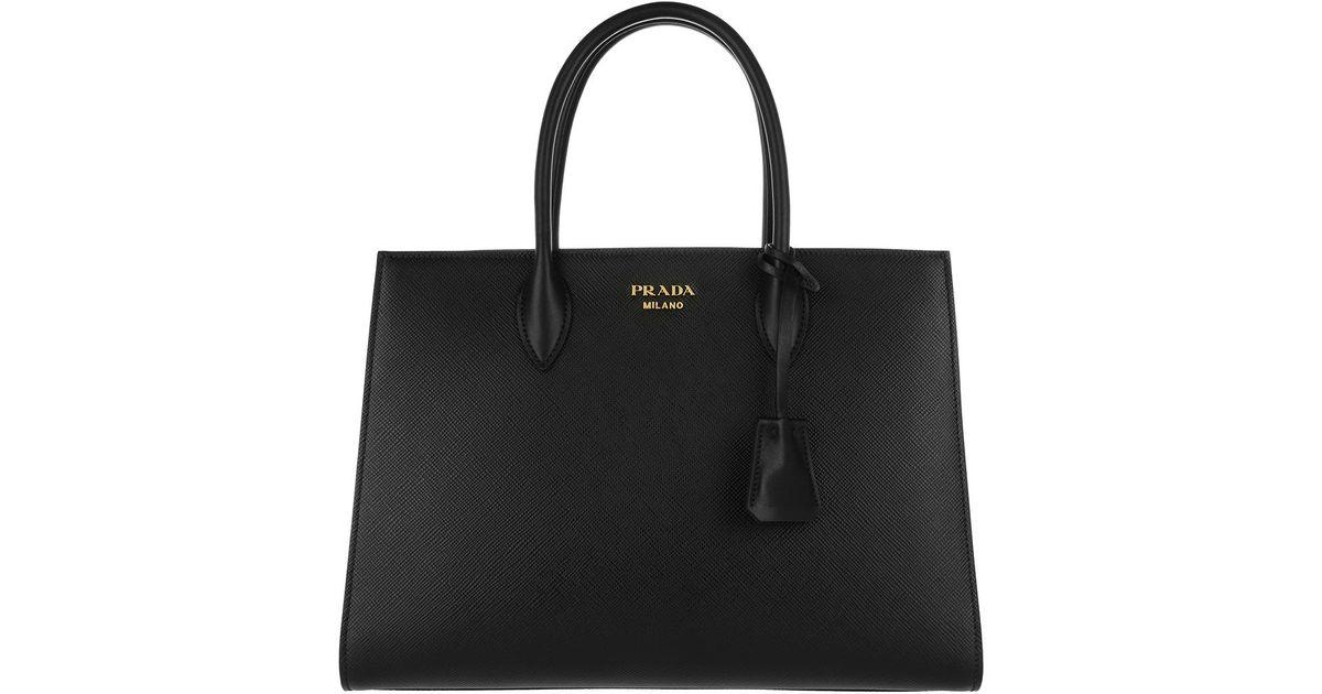newest edfb8 5c467 Prada - Black Tracolla Shopping Nero/fuoco - Lyst