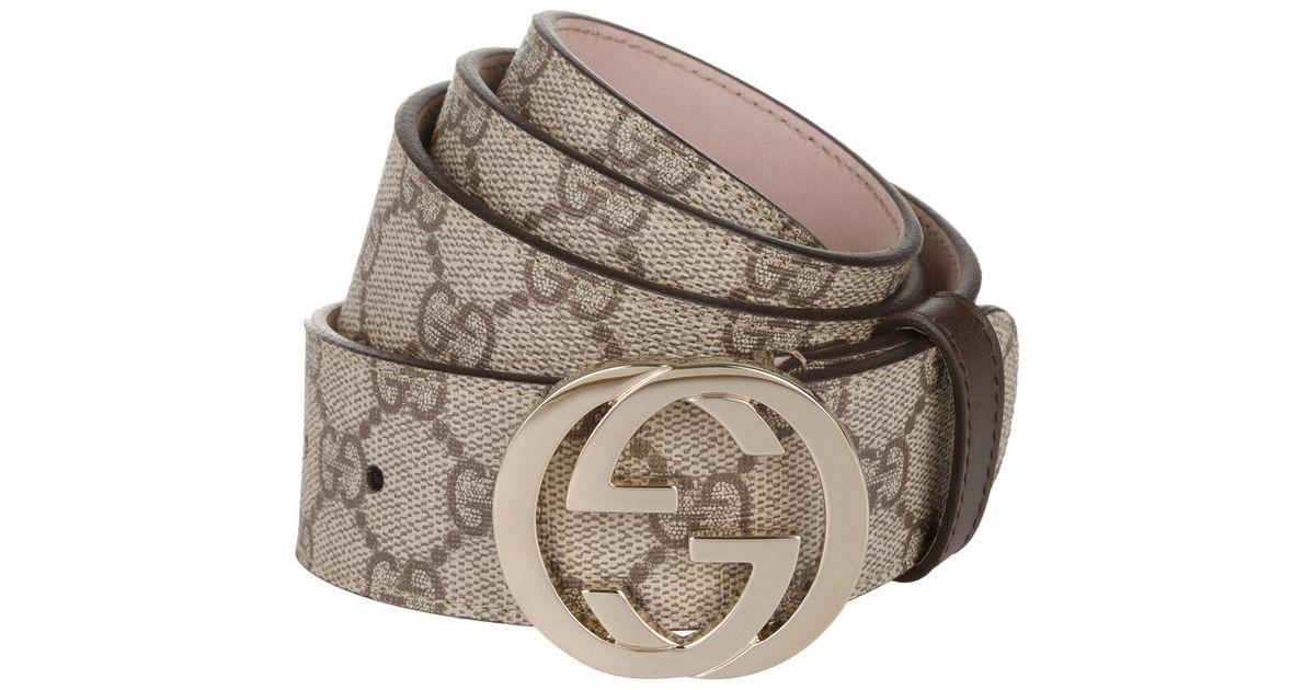 comprare popolare cc22c 5d447 Gucci - Natural Cintura Donna GG Supreme Belt Beige/cocoa - Lyst