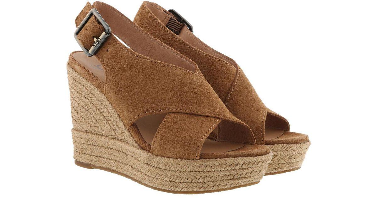 a57ed836c01 Ugg Brown W Harlow Sandals Chestnut