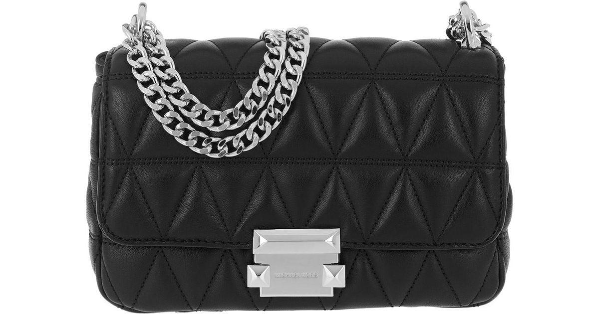 15aed8ab92d6 Michael Kors Sloan Sm Chain Shoulder Bag Black in Black - Save 10% - Lyst