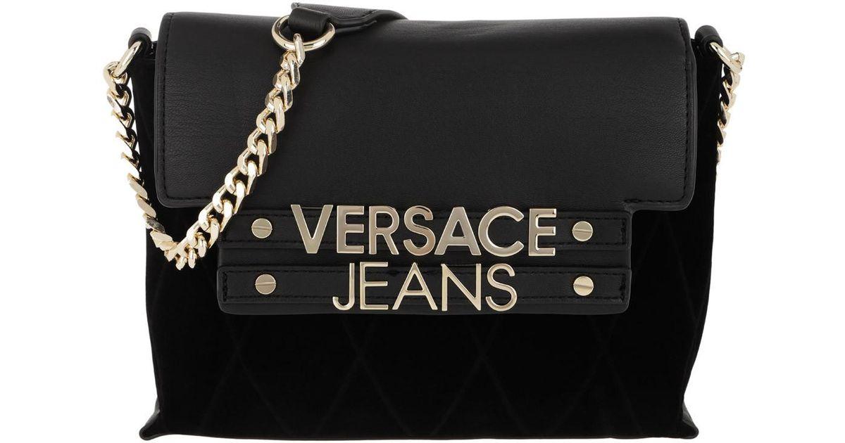080daff00b Versace Jeans Logo Chain Crossbody Bag Black in Black - Lyst