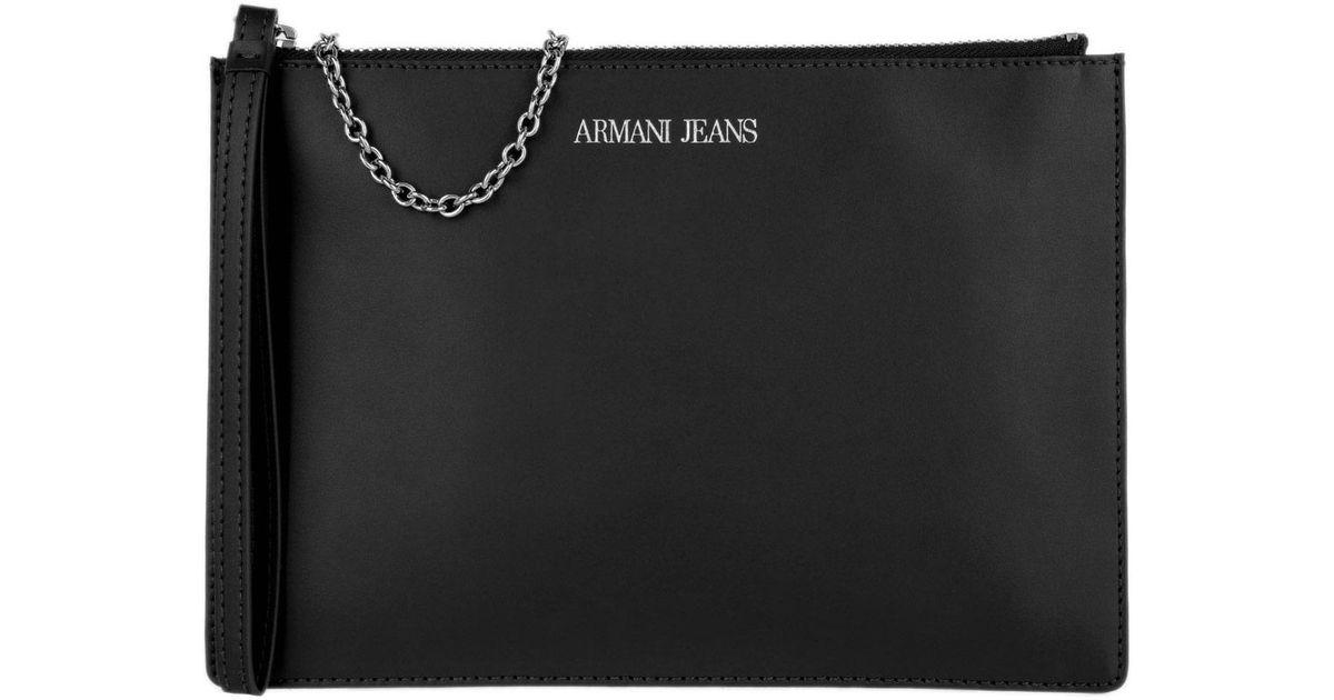d4cf35ba5131 Armani Jeans Bustina Crossbody Clutch Nero in Black - Lyst