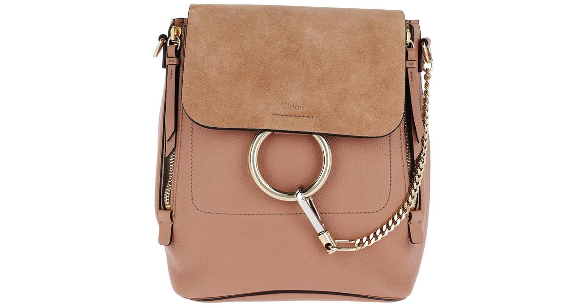 b8cf59839f Chloé Faye Backpack Small Nougat in Natural - Lyst