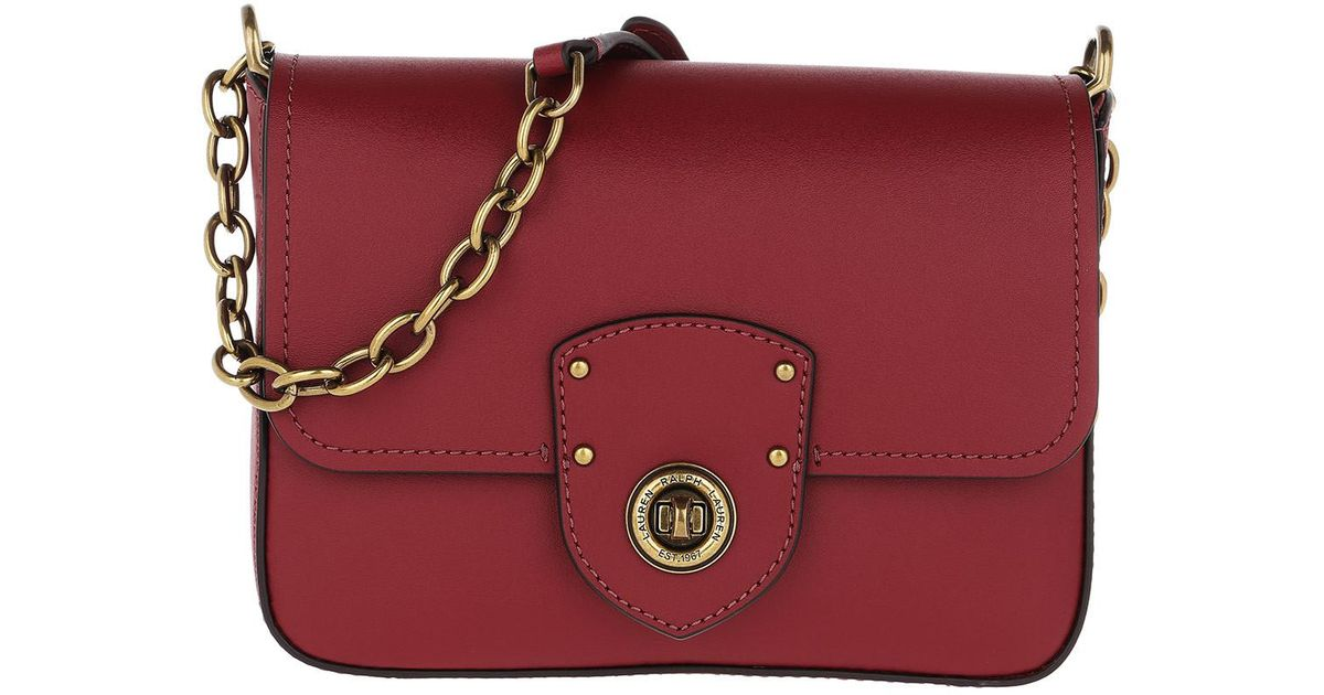 9e7662ed43 Lauren by Ralph Lauren Millbrook Crossbody Bag Smooth Leather Red in Red -  Lyst