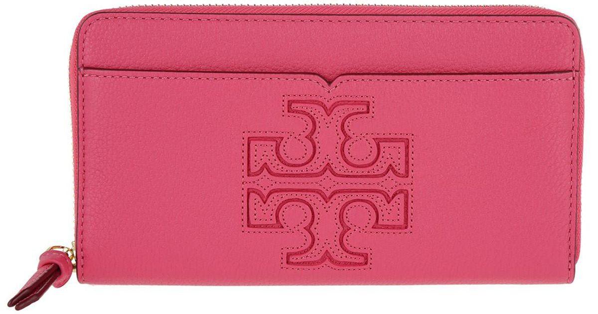 05c0ba4457dc Tory Burch Harper Zip Continental Wallet Fiesta in Pink - Lyst