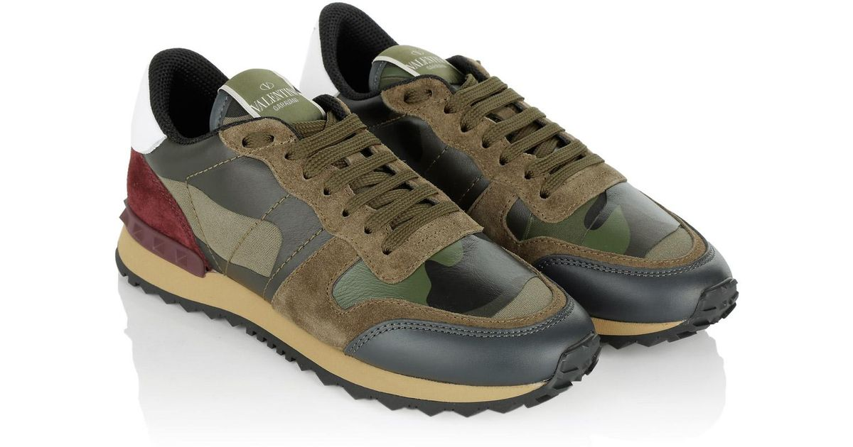 895e79bb4d31a Valentino Camouflage Peace Sneaker Army Green Brush Wood in Green - Lyst