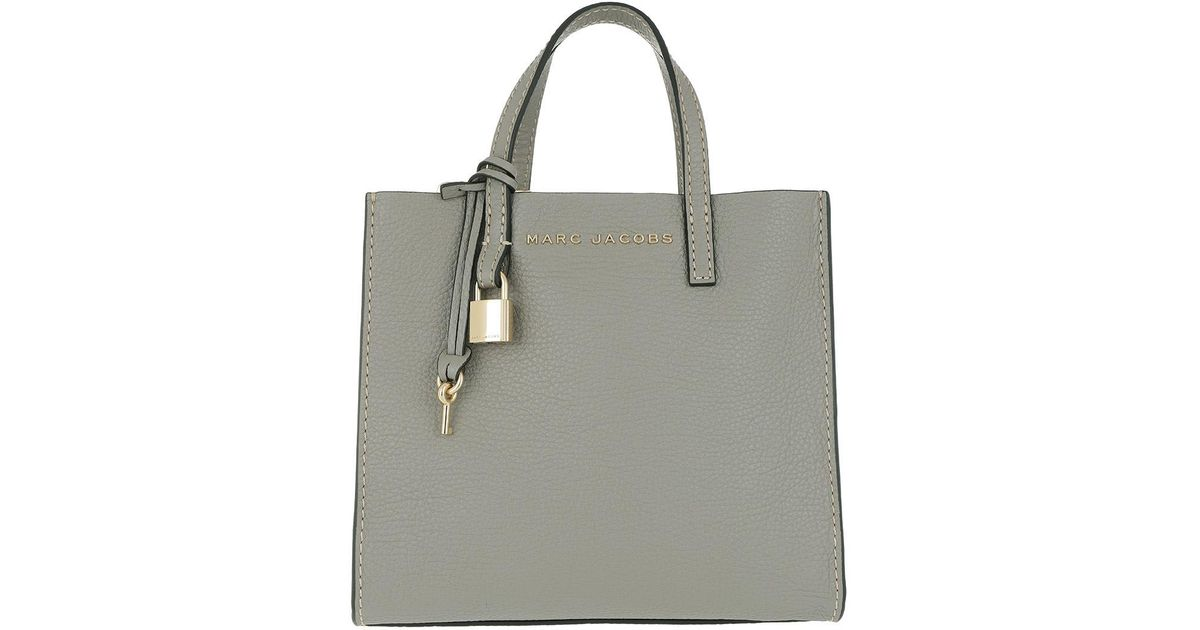 Marc Jacobs The Mini Grind Bag Stone Grey in Gray - Lyst 6c9e9f2a5616e