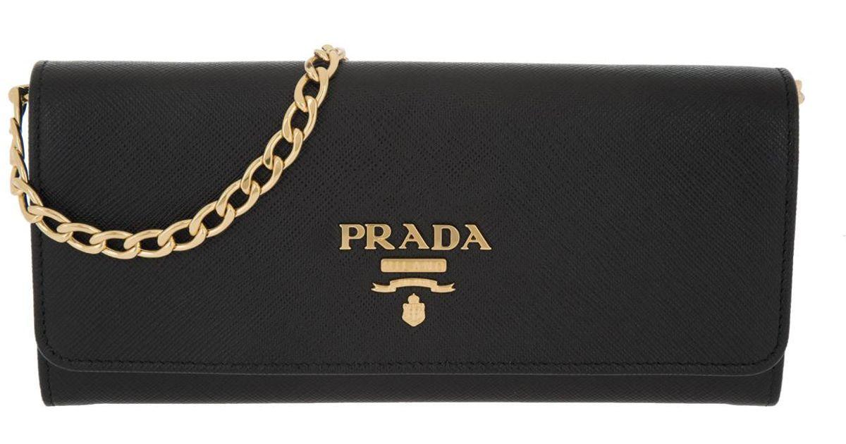Cross Body Bags - Borsa Portafoglio Saffiano Lux Nero - black - Cross Body Bags for ladies Prada X4V8ei