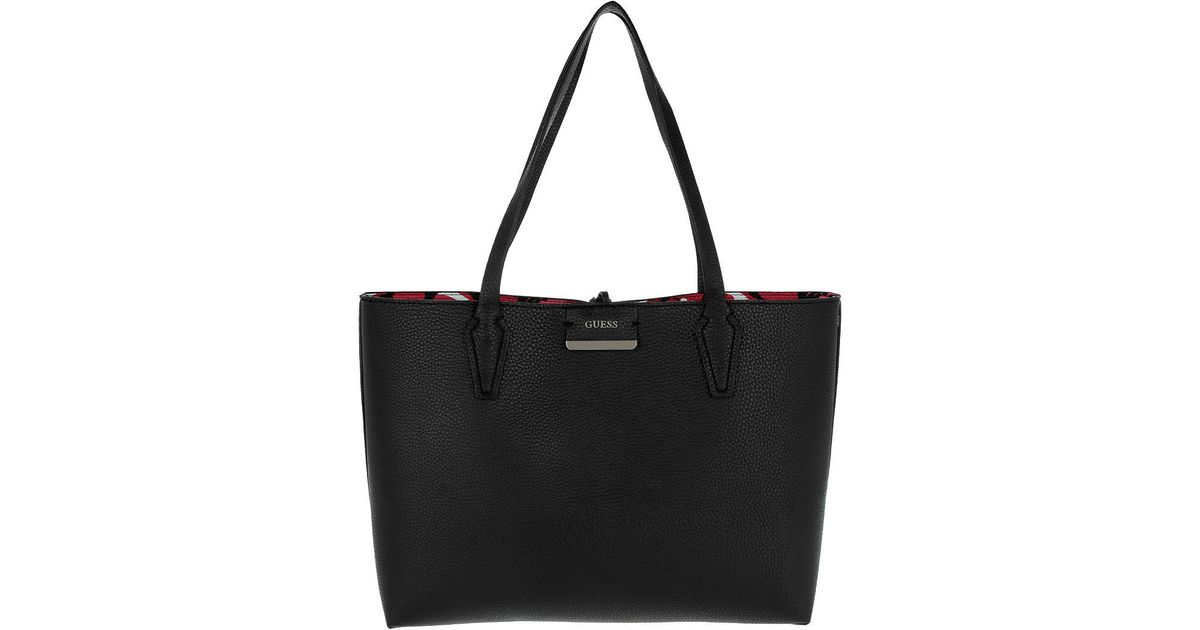 401ac1a64821 Guess Bobbi Inside Out Tote Black Floral in Black - Lyst