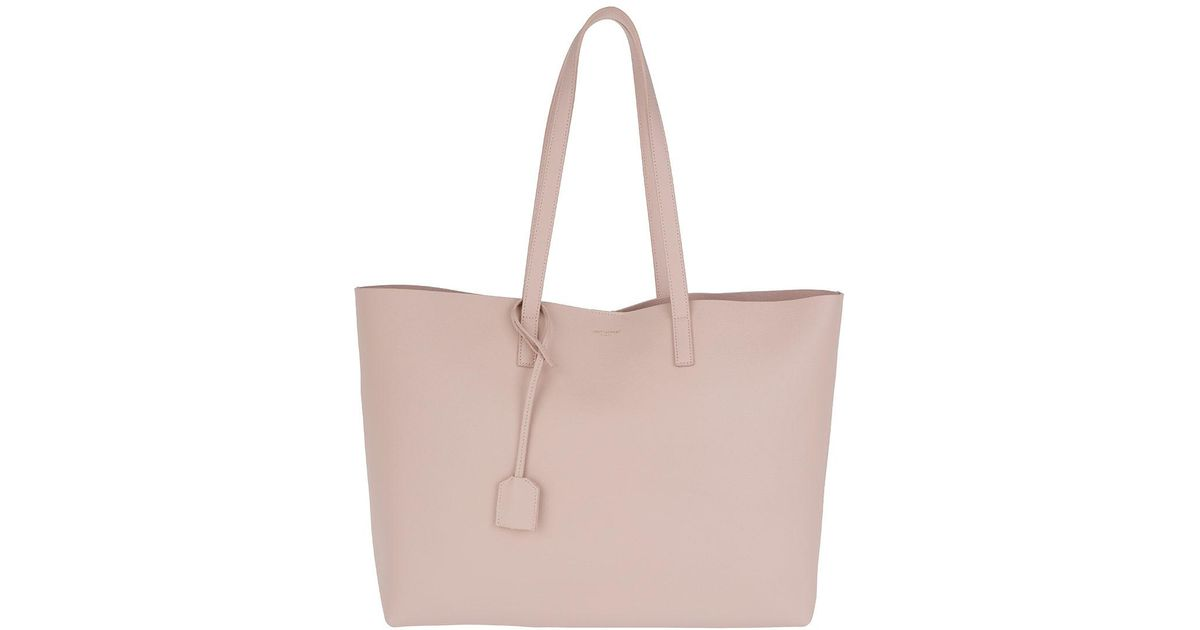 47f15e6c81bc Saint Laurent Ysl Large Shopping Bag Marble Pink in Pink - Lyst