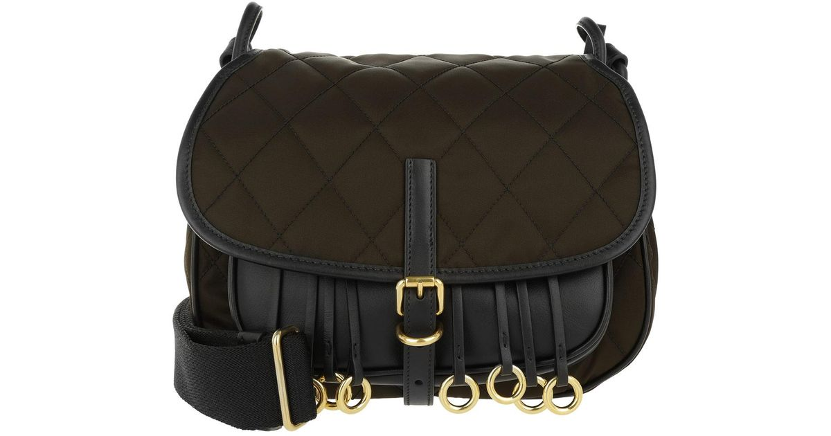 631607a4a1c7 Prada Corsaire Crossbody Bag Calfskin nylon Marrone nero in Brown - Lyst