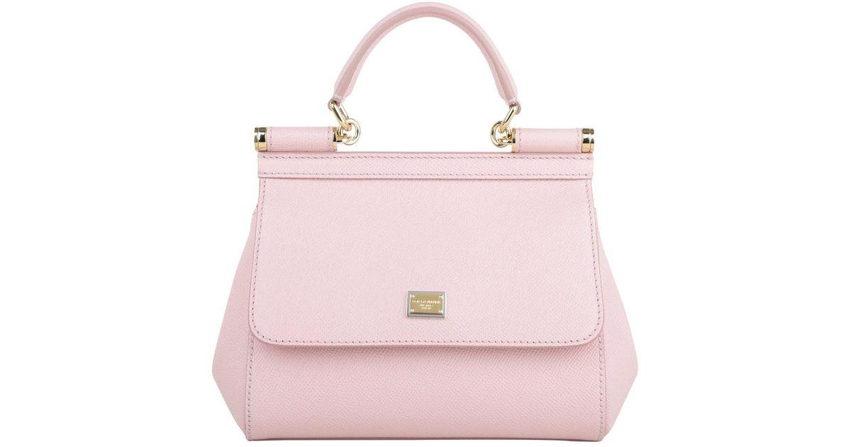 Dolce   Gabbana Mini Bag Sicily Vitello Stampa Dauphine Rosa Carne 2 in  Pink - Lyst 3361966d5a3d3