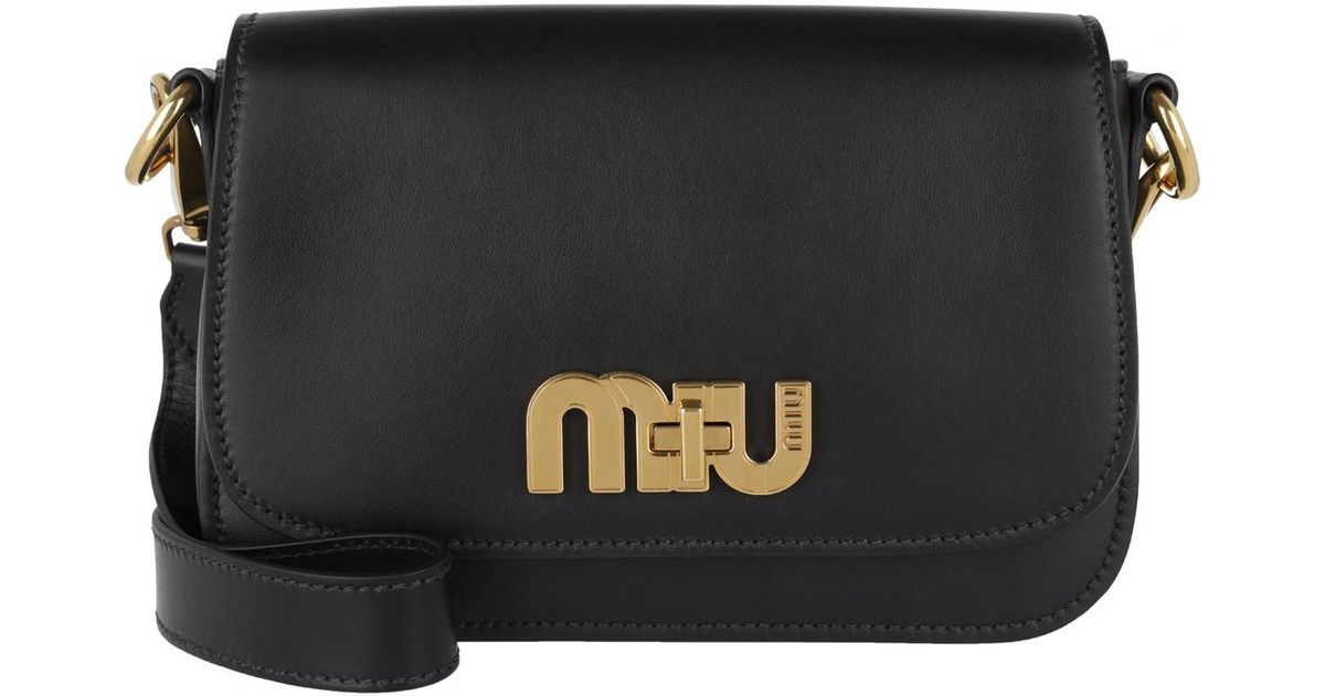 56d6accb5258 Miu Miu City Calf Mini Shoulder Bag Nero in Black - Lyst