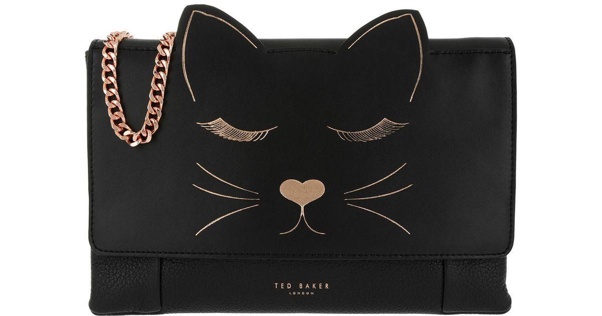 490153e702 Ted Baker Felinaa Linear Cat Crossbody Bag Black