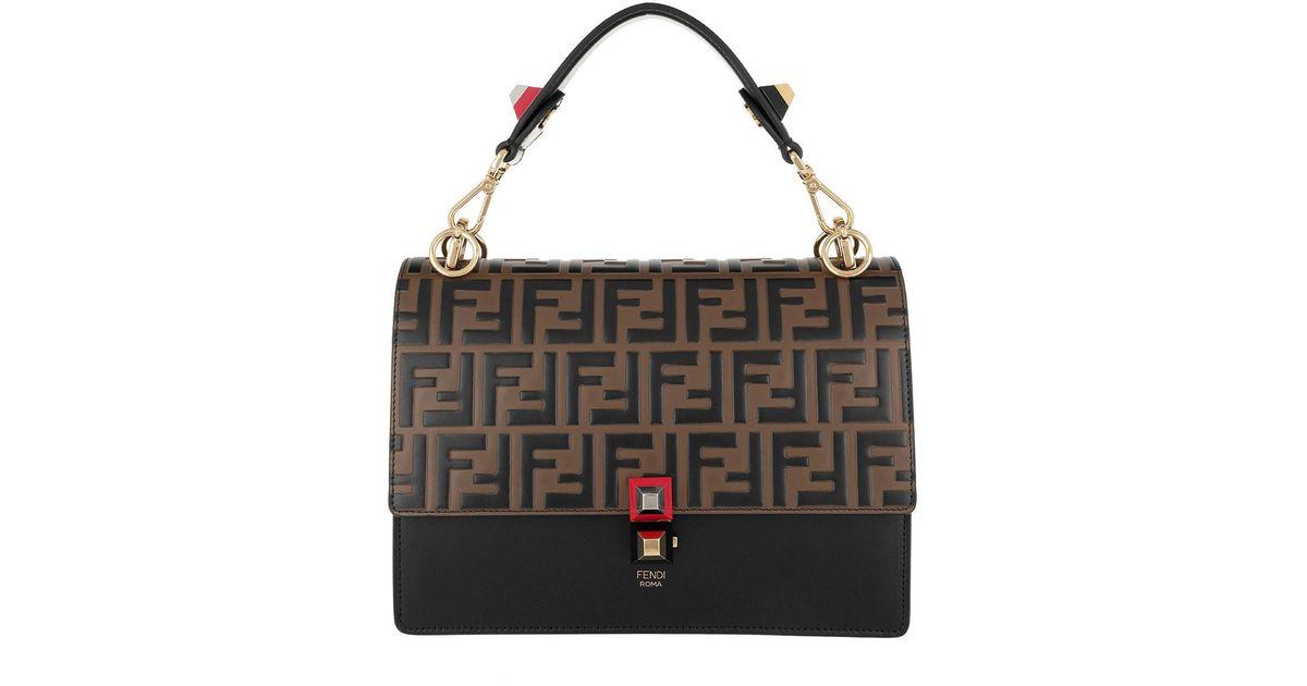fe6c5c1a8683 Fendi Kan I Shoulder Bag Nero Maya in Brown - Lyst