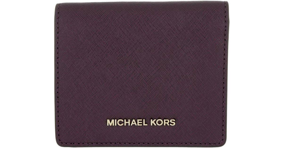 83ba70fae36e9e Michael Kors Money Pieces Flap Card Holder Damson in Purple - Lyst