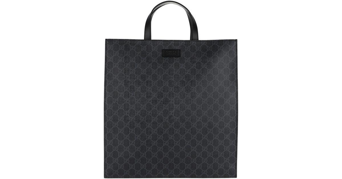 f01d0c83ed71 Gucci Soft Gg Supreme Men Tote Black in Black - Lyst