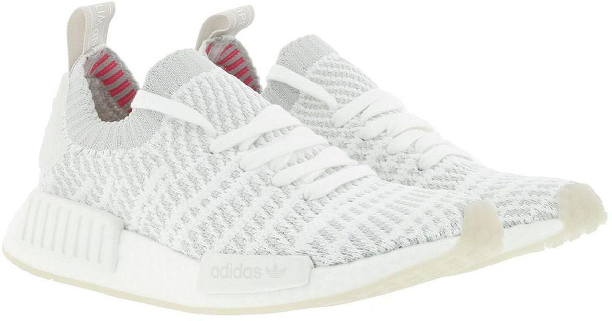 65a721154e44 adidas Originals Nmd r1 Stlt Pk Ftwwht greone sopink in White - Lyst