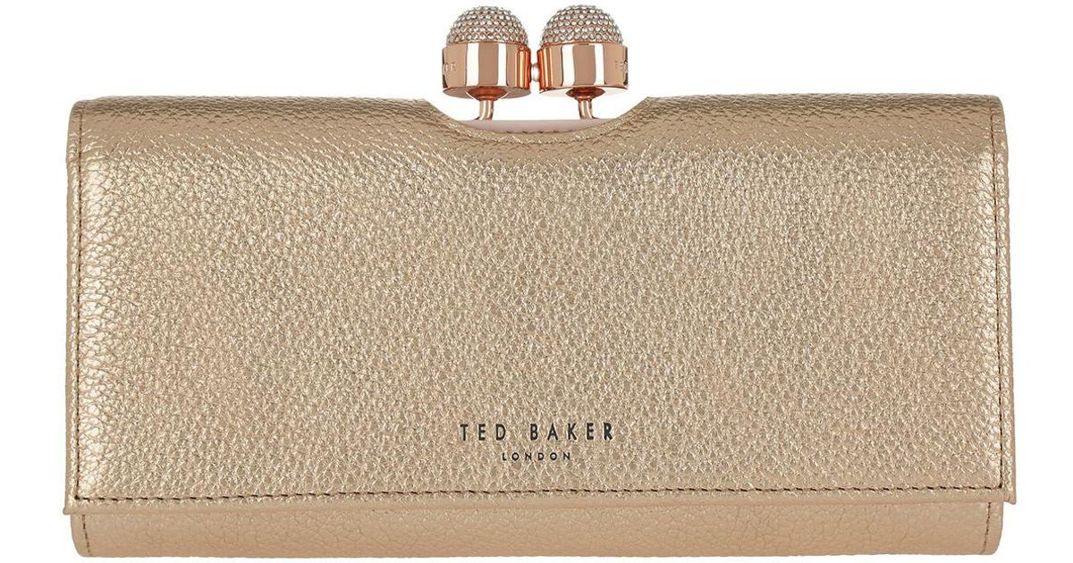 e8ad386e083e64 Ted Baker Pamelia Textured Bobble Matinee Purse Rose Gold - Lyst