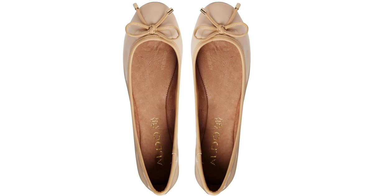 0692bb56654 Lyst - ALDO Koten Leather Flat Shoes in Natural
