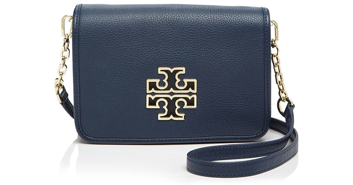 Lyst - Tory Burch Britten Combo Crossbody in Blue b41c5acf6