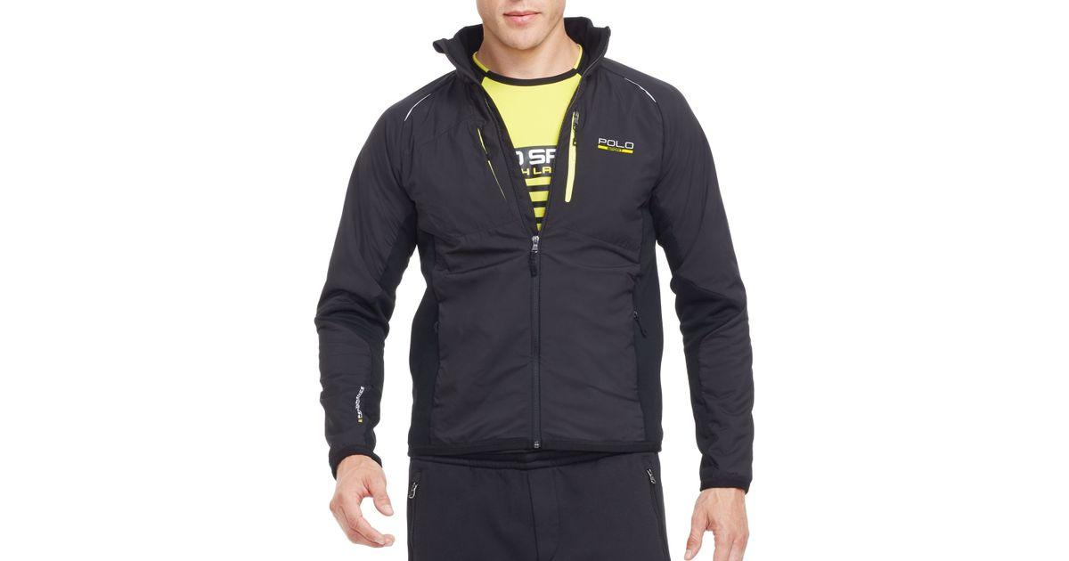 64f1fa95 Pink Pony Black Polo Sport Hybrid Tech Jacket for men