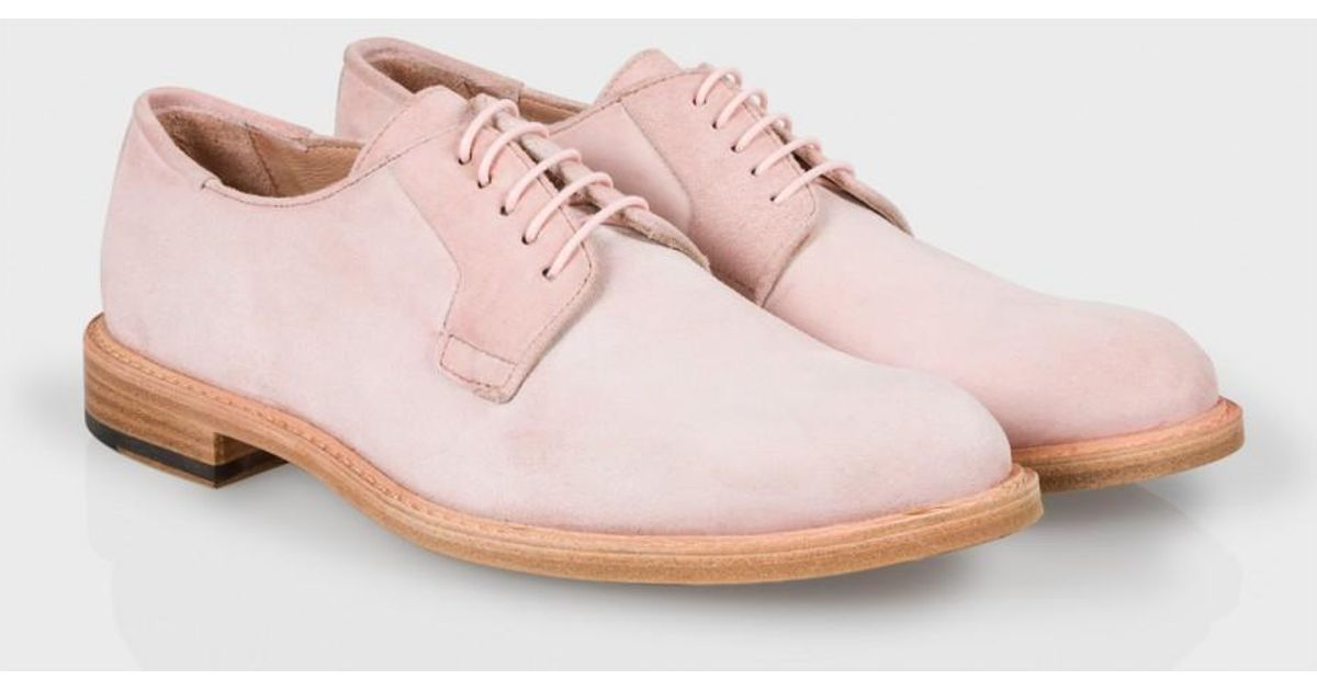 a4ff998f6dda Lyst - Paul Smith Women S Dusty Pink Suede  Stokes  Shoes in Pink for Men