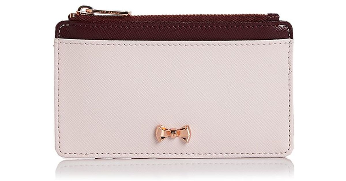 the latest 608aa 8c388 Ted Baker Pink Metal Bow Card Case