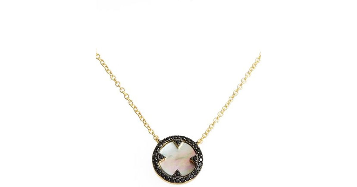 Freida Rothman Mother-of-Pearl Eyelet Pendant Necklace b8867BMn