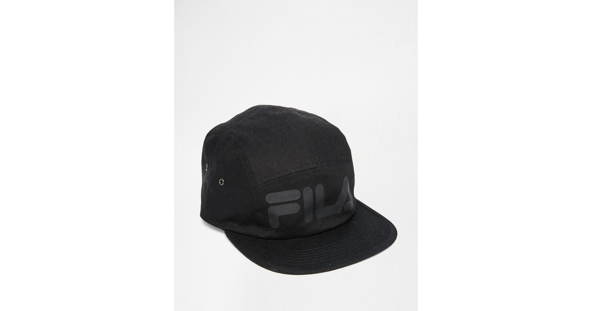 Lyst - Fila Black Line 5 Panel Cap in Black for Men 053dfd09b0d6