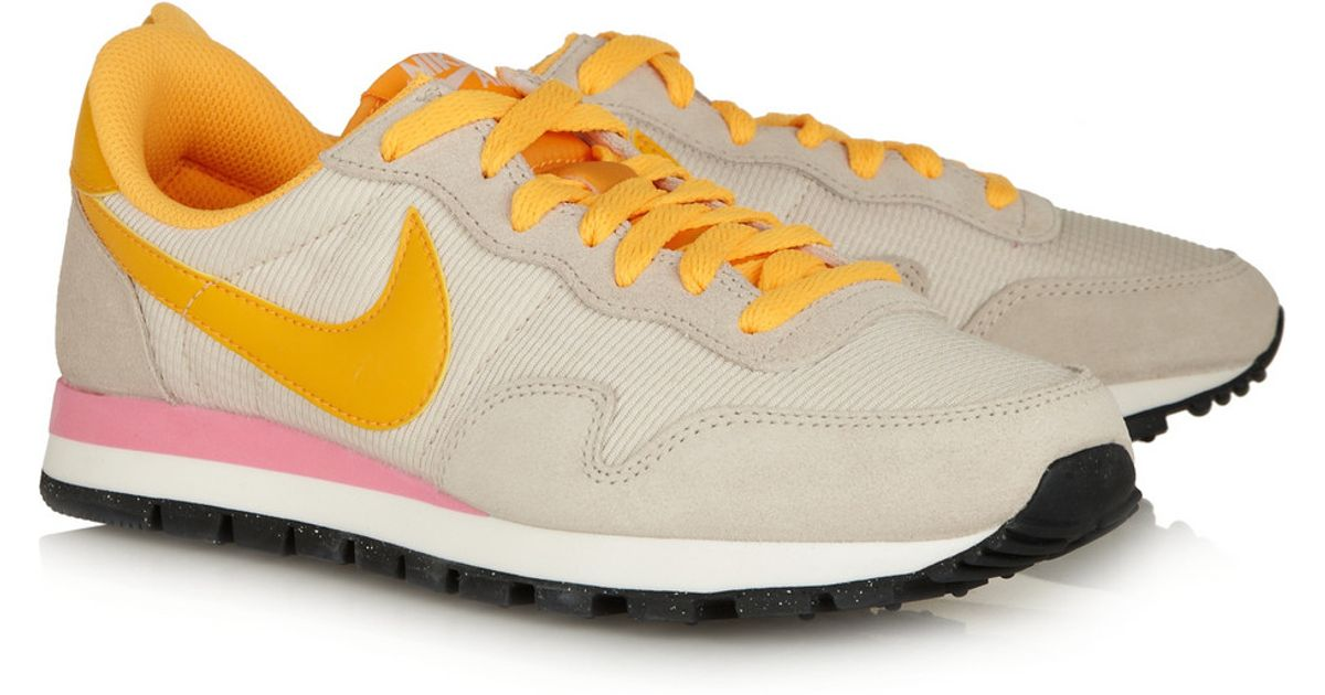 check out 42a2d 3ac98 Lyst - Nike Air Pegasus 83 Leather, Suede And Mesh Sneakers