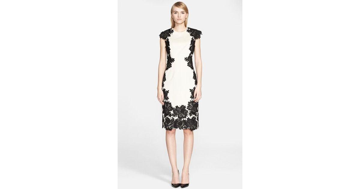 Best Prices Sale Geniue Stockist rose appliqué midi dress - White Lela Rose 7SlBYQvx7i