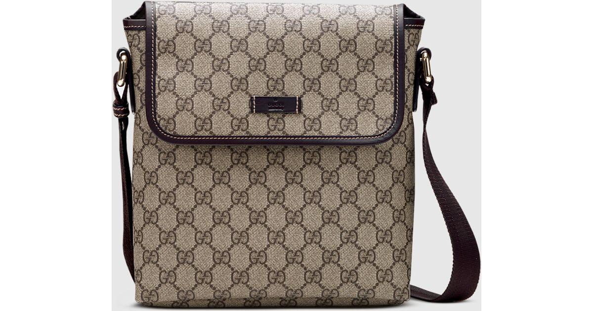 5fae2a3c13b3 Gucci Gg Plus Messenger Bag in Brown - Lyst