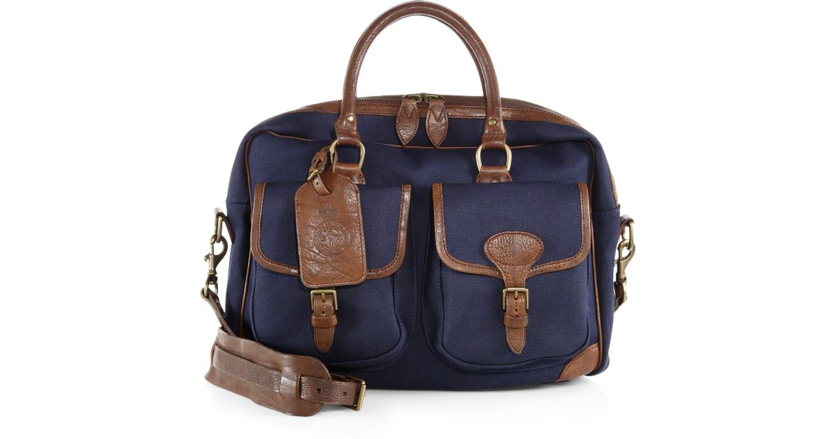 Lyst - Polo Ralph Lauren Twill Canvas Commuter Bag in Blue for Men d74e573ff4