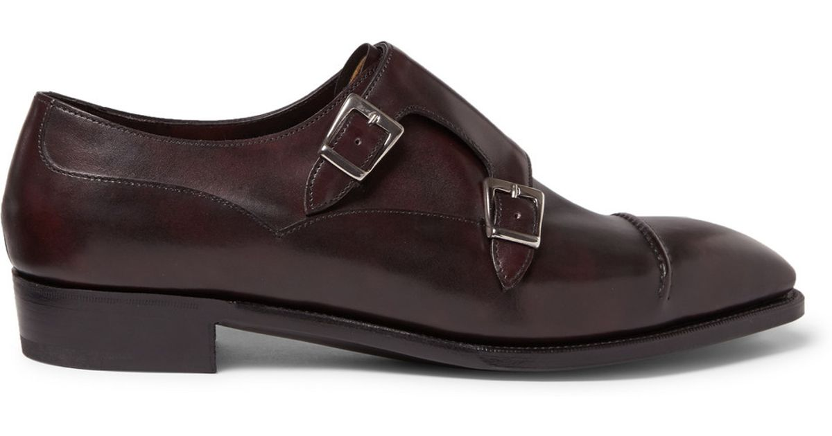 sale retailer 09dd0 44c8b george-cleverley-purple-caine-leather-monk-strap-shoes-product-1-28047120-4-728796040-normal.jpeg