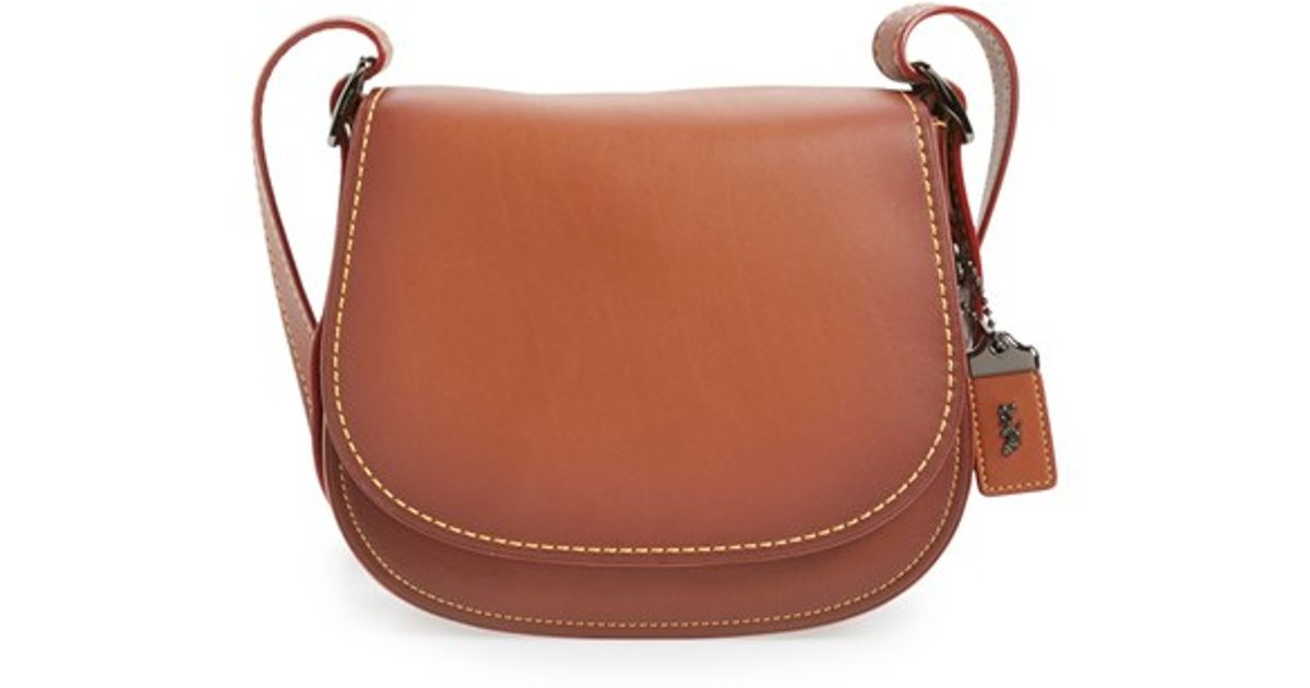 Lyst - COACH 1941  23  Leather Saddle Bag in Brown 32b3522afb45d