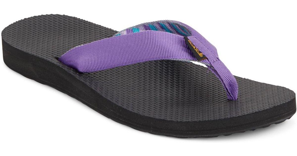 Teva Classic Flip Flops In Purple  Lyst-6487