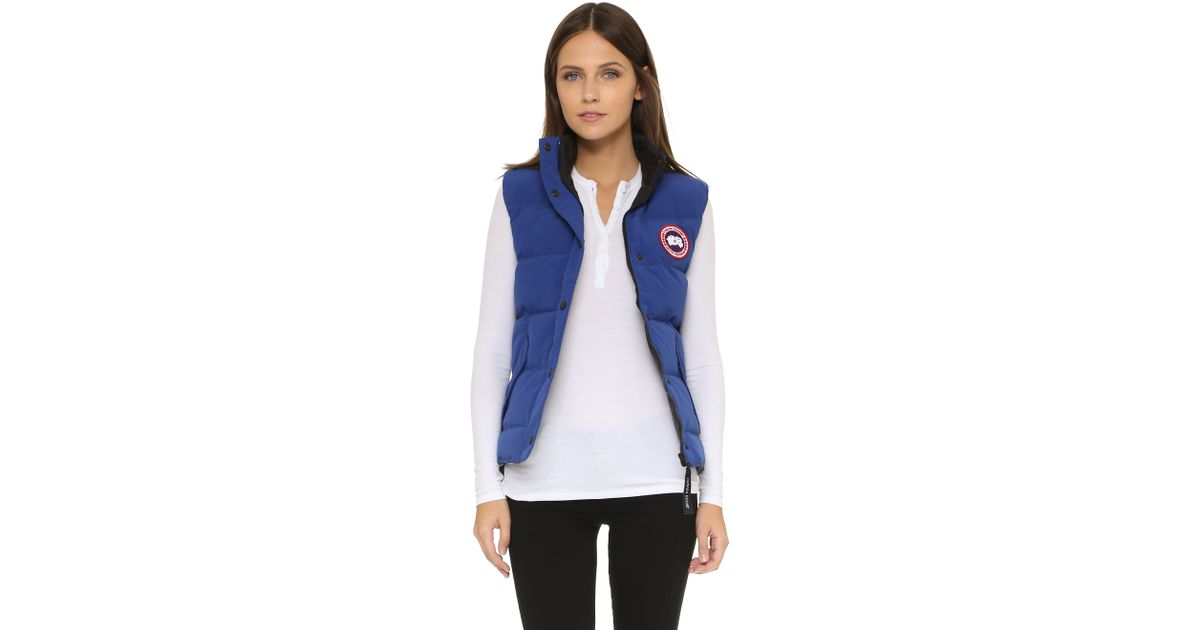 Canada Goose expedition parka sale cheap - Canada goose Freestyle Vest in Blue (Pacific Blue) | Lyst