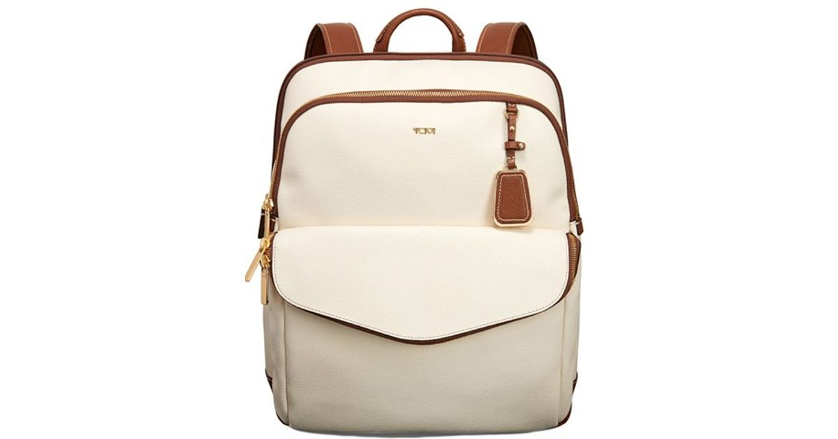 9e9f5c4420d Lyst - Tumi  sinclair Harlow  Coated Canvas Laptop Backpack in Natural