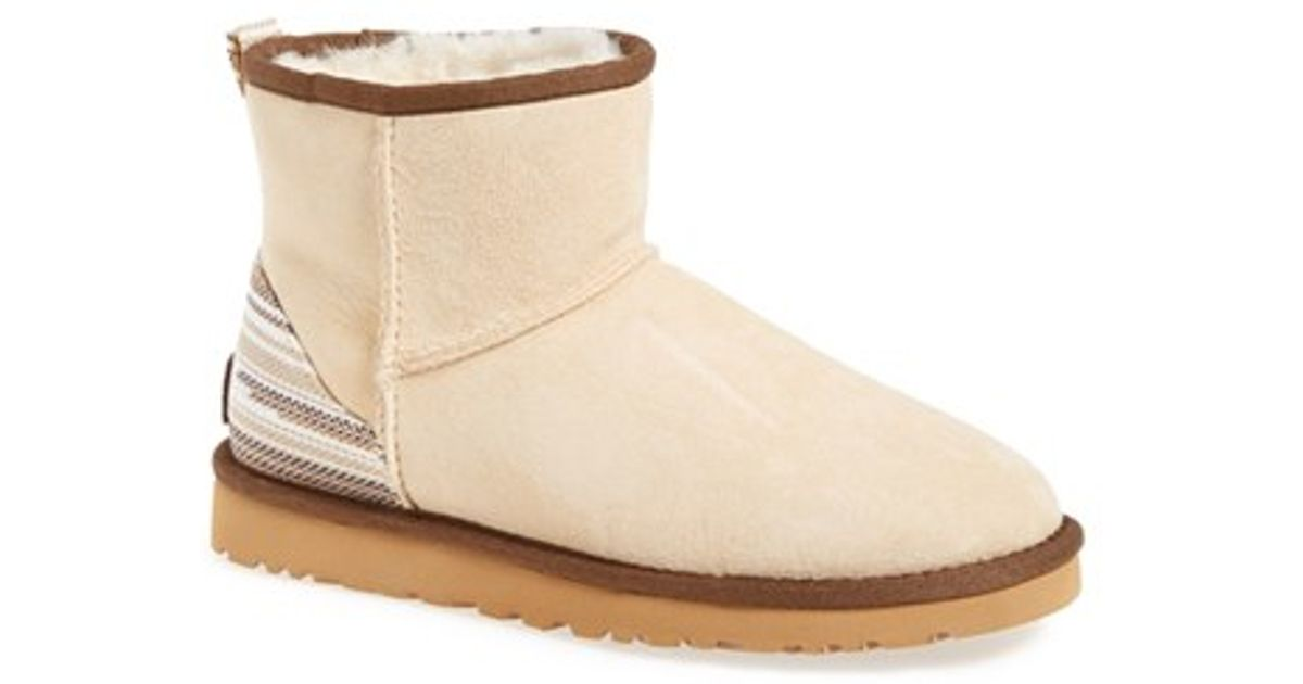 b7f4bf12073 UGG Natural 'classic Mini Serape' Genuine Shearling Lined Boot