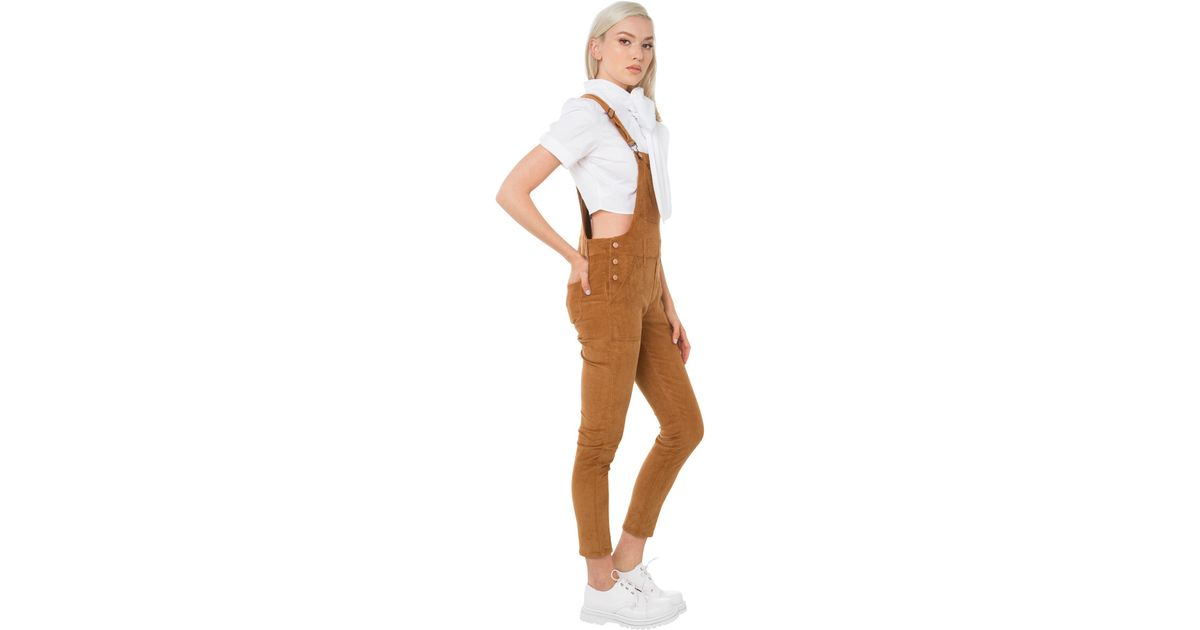 55456baab Akira Black Label How About It Corduroy Overalls in Brown - Lyst
