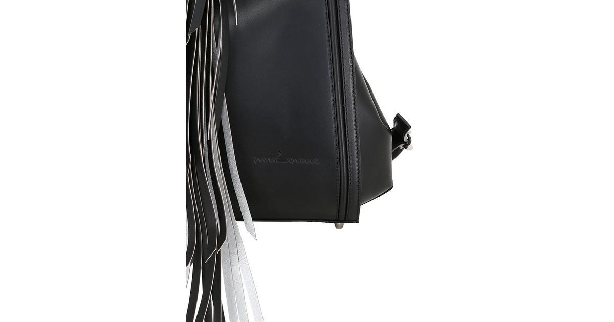 d446c53e5b Lyst - Maria Lamanna Miss Manu Leather Backpack With Tassel in Black